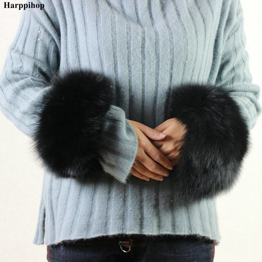 High Quality Fox fur Cuffs Hot Sale Wrist Warmer Genuine Fox Fur Cuff Arm Warmer Lady Bracelet Real Fur Wristband Glove