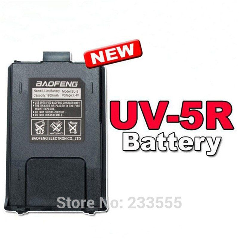 10pcs Black NEW BaoFeng Battery For UV-5R Series Walkie Talkie UV-5R UV-5RA+ UV-5RB UV-5RC UV-5RE+Plus BF-F8+