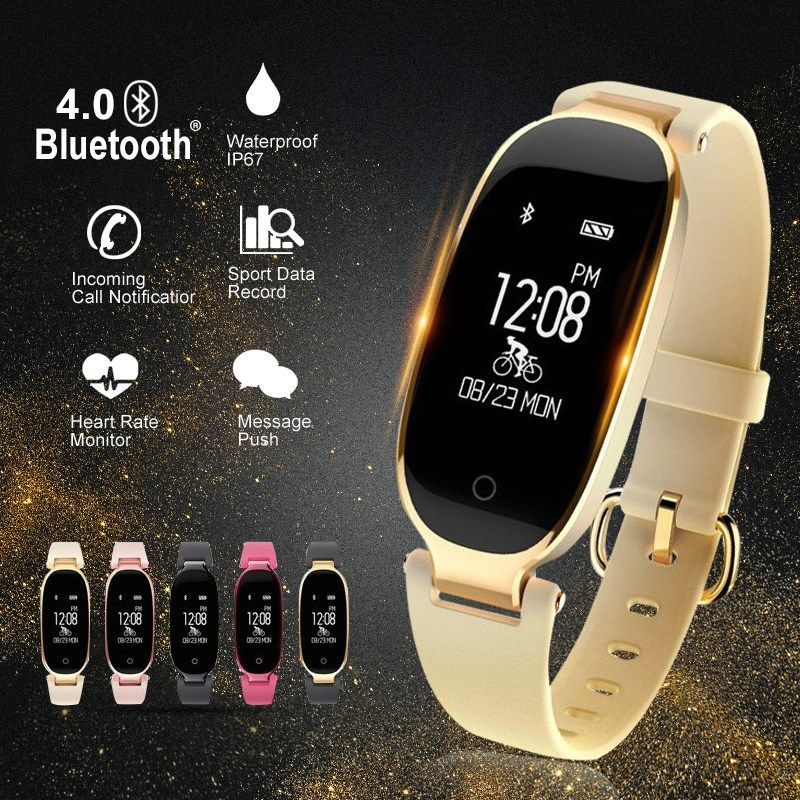 Bluetooth Waterproof S3 Smart Watch Fashion Women Ladies Heart Rate Monitor Smartwatch relogio inteligente For Android IOS reloj