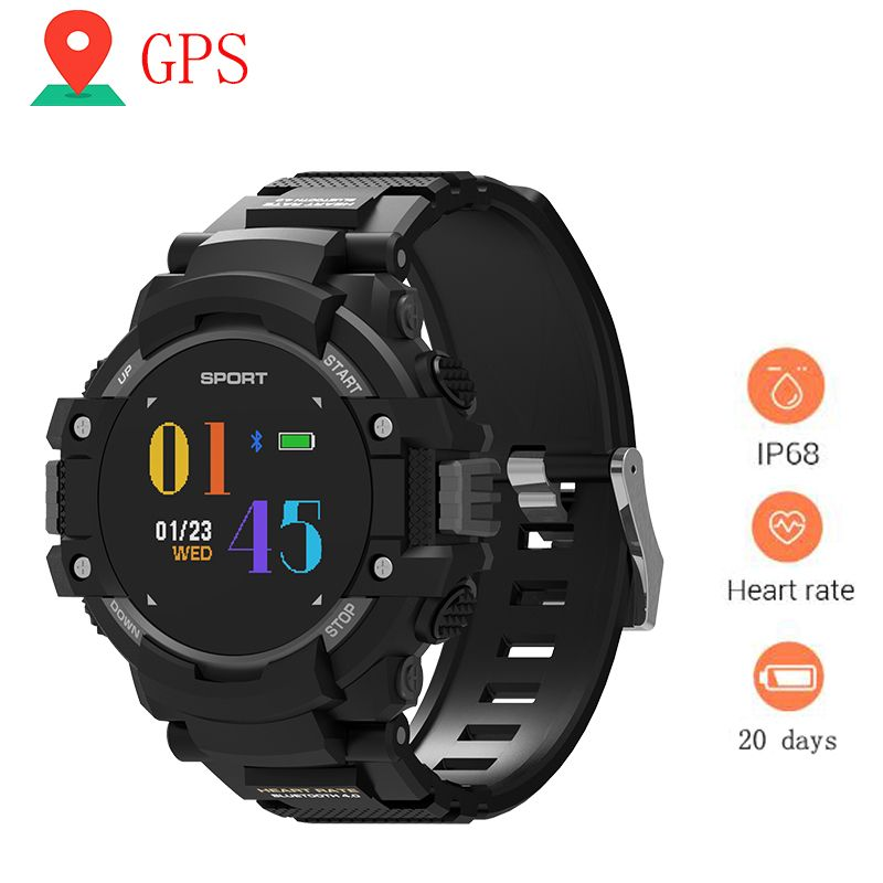 GPS Smart watch Women Wearable Devices Activity Tracker Bluetooth 4.2 Altimeter Barometer Compass GPS Outdoors F7 Watches Men