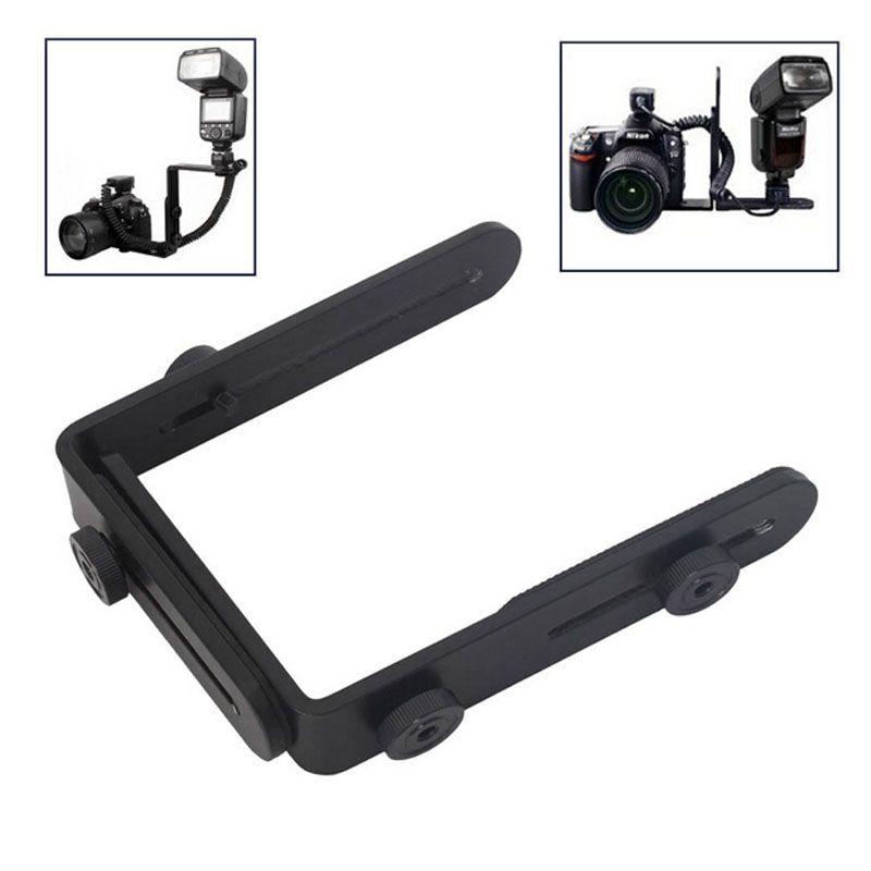 Gros 1/4 Hot caméra adaptateur de cireur flash bracket support de cadre bilatéral double double L support L - support pour caméra