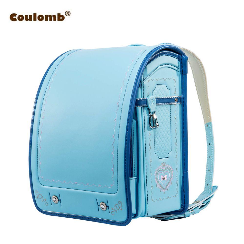 Кулоновского детская школьная сумка для мальчика и девочки Рюкзак PU HASP Японии randoseru сумка Детские ортопедические Bookbags Mochila Escolar Новый