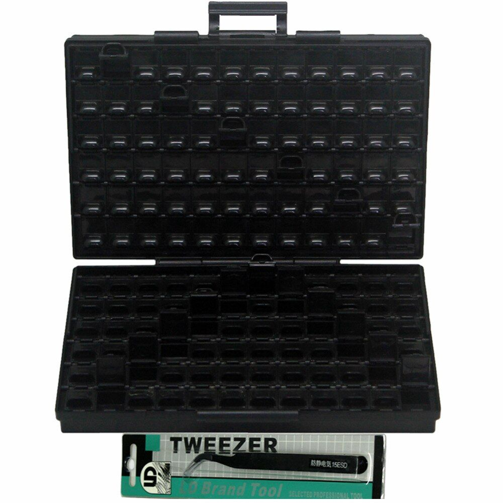 AideTek ESD Safe SMD IC Box W/144 Bins Anti-statics SMD SMT Organizer Transistor Electronics Storage Cases & Organizers BOXALLAS