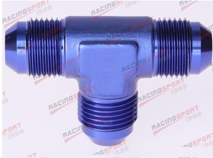 AN3 3AN AN -3 Male FLARE UNION Tee T-piece fitting adapter AD23001 blue