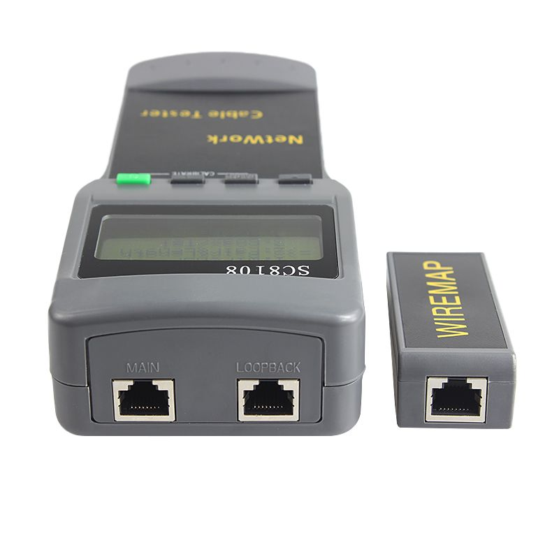 SC8108 Portable LCD Network Tester Meter Wireless LAN Phone Cable Meter Tester Wire Tracker LCD Display
