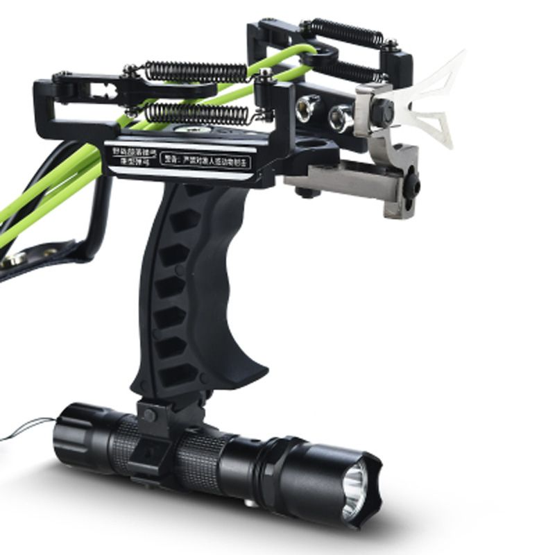 2018 High Quality Laser Slingshot Black Hunting Bow Catapult Fishing Bow Outdoor Powerful Slingshot for <font><b>Shooting</b></font> Crossbow Bow