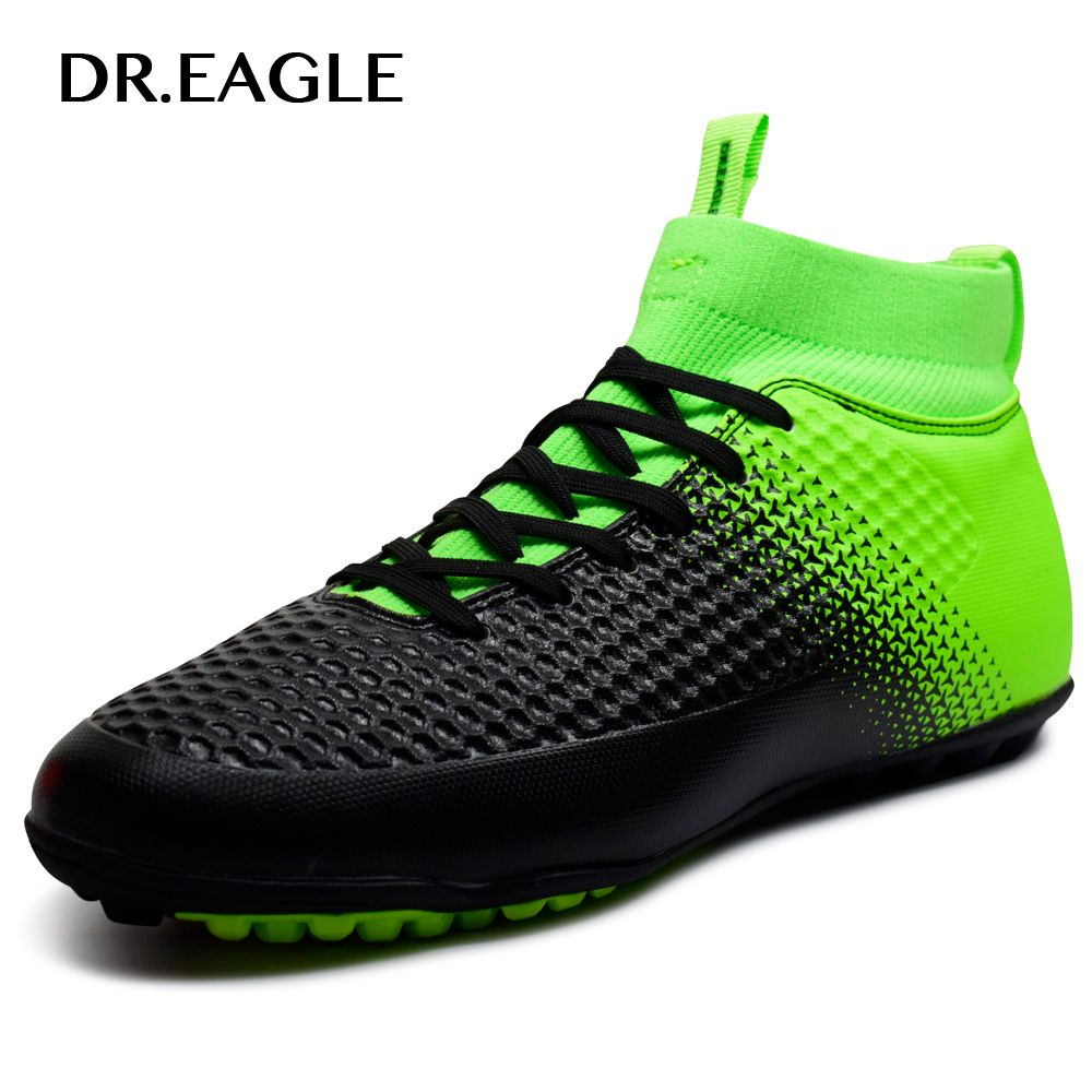 DR.EAGLE High Ankle TF/turf Indoor soccer boots MAN SHOES SPORTS FOOTBALL boot futzalki football sneakers soccer cleats