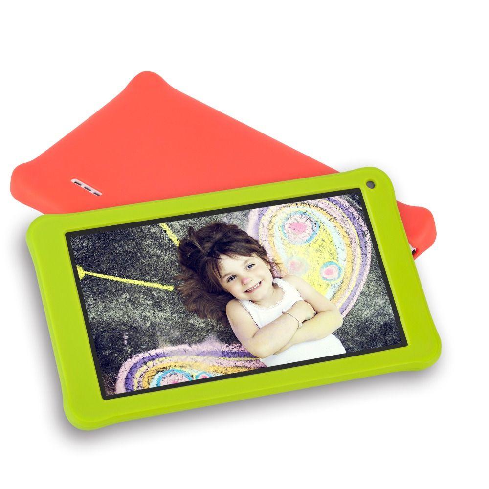 Kinder Lernen Maschine 7 inch Kinder Tablet PC 1g + 16 gb Quad Core Android 7.1 Dual Kamera Sprache Ausbildung computer Geschenk Spielzeug