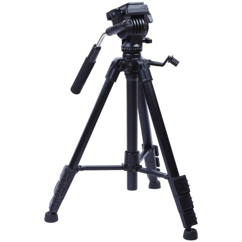 VCT-691 Photographic Equipment Yunteng Aluminum Tripod Professional Pan head for canon 700D 650D 600D SLR Camera include bag