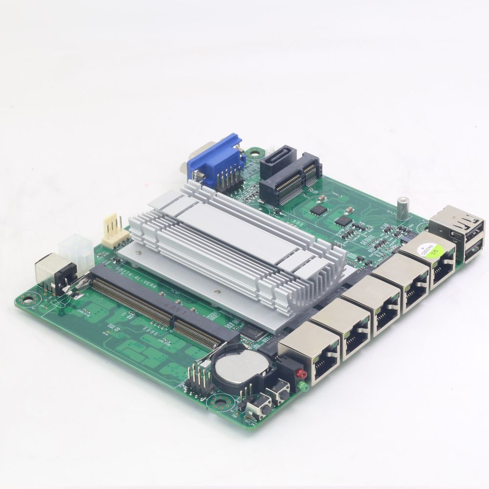 Mini ITX Motherboard Intel Celeron J1800 with 4x 1000Mbps Intel Gigabit Ethernet ports Firewall Router Appliance Pfsense