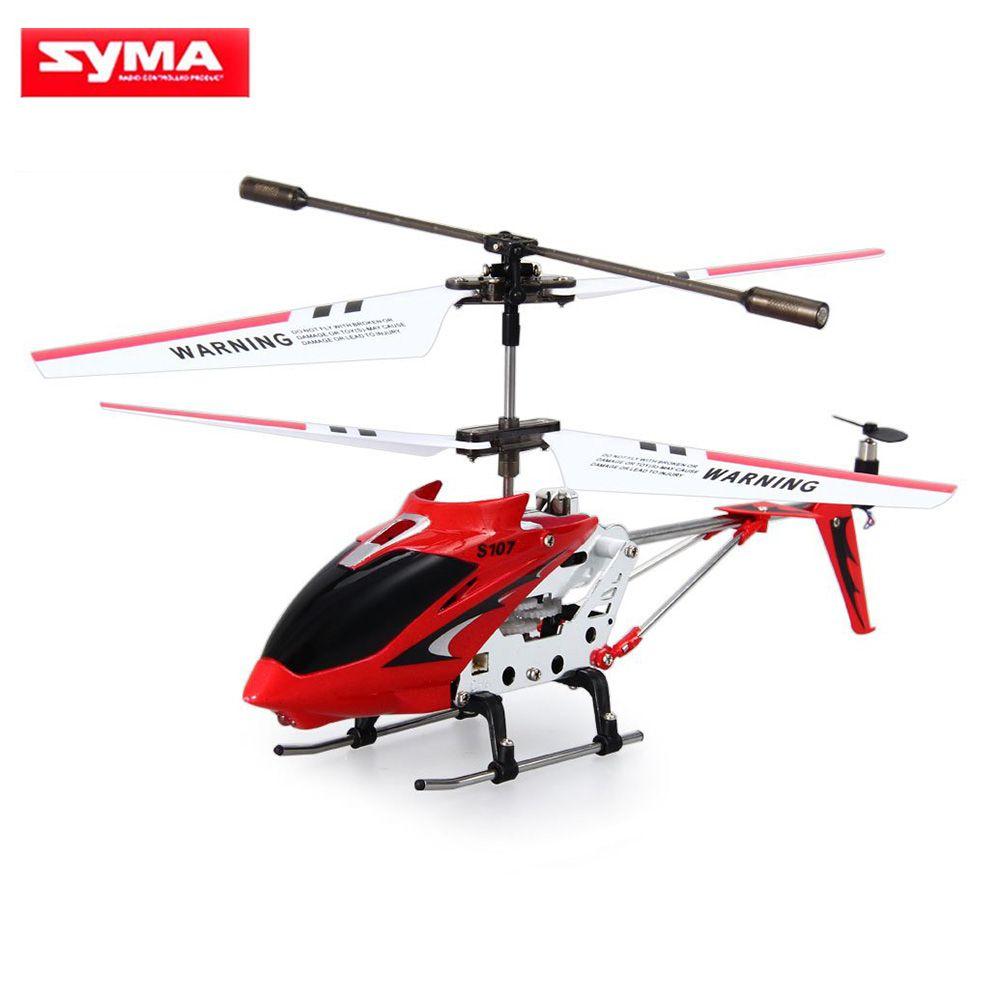 Mini Drones d'origine Syma S107G S107 3CH RC jouet volant Gyro radiocommande en alliage métallique Fuselage RC hélicoptère Mini Copter jouets