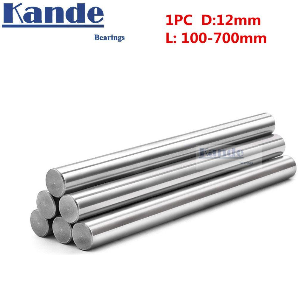 1 pc d: 12mm 100-600mm 3D imprimante tige arbre 12mm linéaire arbre chromé tige arbre CNC pièces Kande