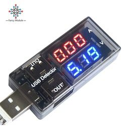 USB Voltage Current Charging Detector Mobile Power Current Voltmeter Ammeter Voltage USB Charger Tester Double Row Shows Meter