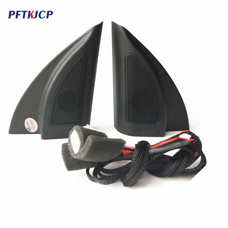 free shipping For Hyundai Solaris 2017 triangle head tweeter speakers car tweeter audio trumpet speakers tweeter with wire