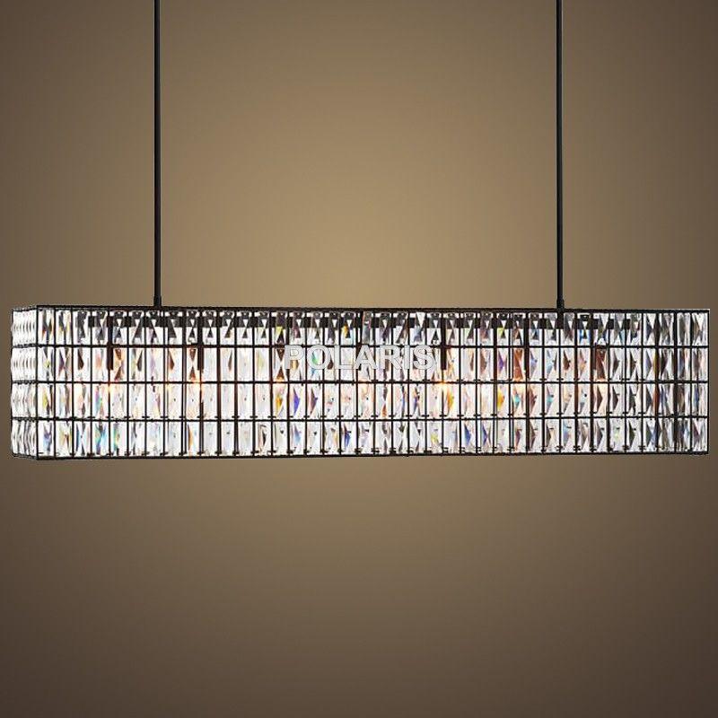 Ausverkauf Moderne Kristall Kronleuchter Beleuchtung Vintage Linear Cristal Anhänger Hängen Licht für Zu Hause Esszimmer Dekoration