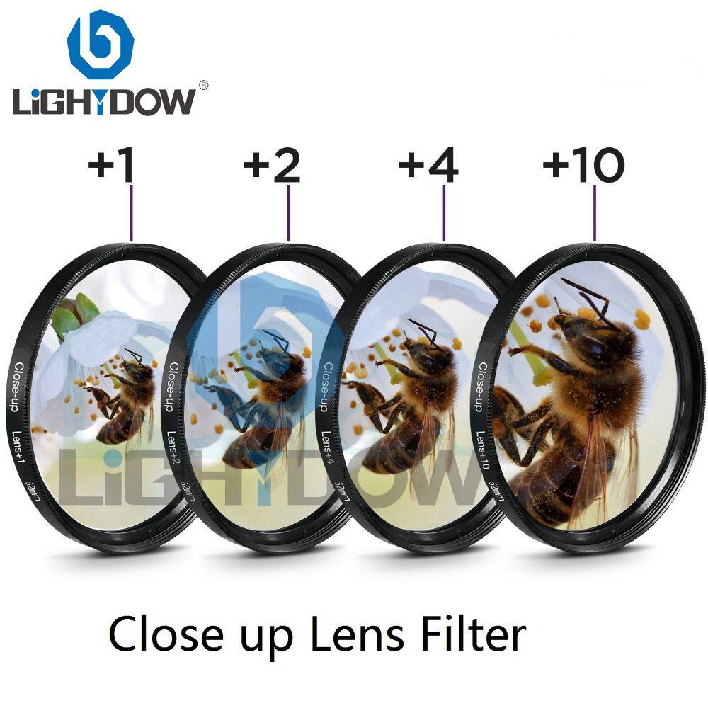 Filtre objectif gros plan Lightdow + 1 + 2 + 4 + 10 Kit filtre 49mm 52mm 55mm 58mm 62mm 67mm 72mm 77mm pour appareils photo Canon Nikon Sony