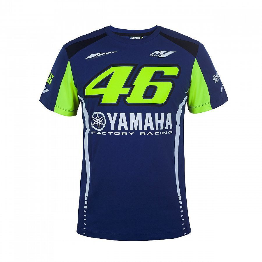 NEW 2017 Motorcycle Valentino Rossi T-shirt VR46 for Yamaha M1 Moto GP Blue Cotton Men's T-shirt