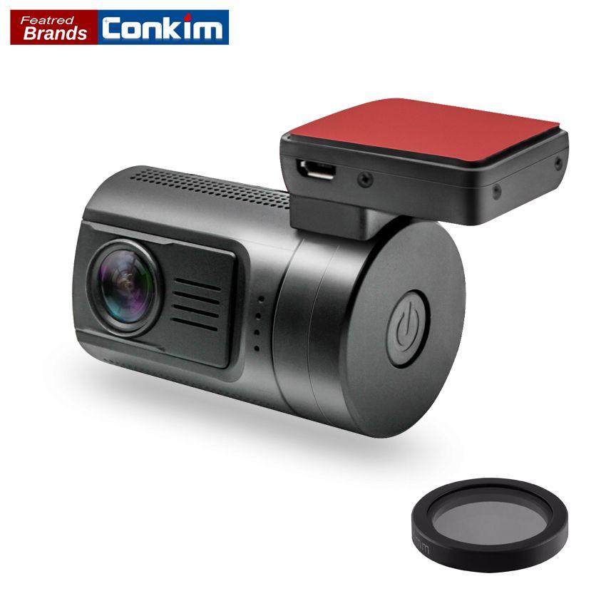 Conkim Mini 0806s Mini Hidden Car Camera Video Recorder Ambarella A7 Super HD 1296P Car DVR GPS Auto Registrar LDWS Dash Camera