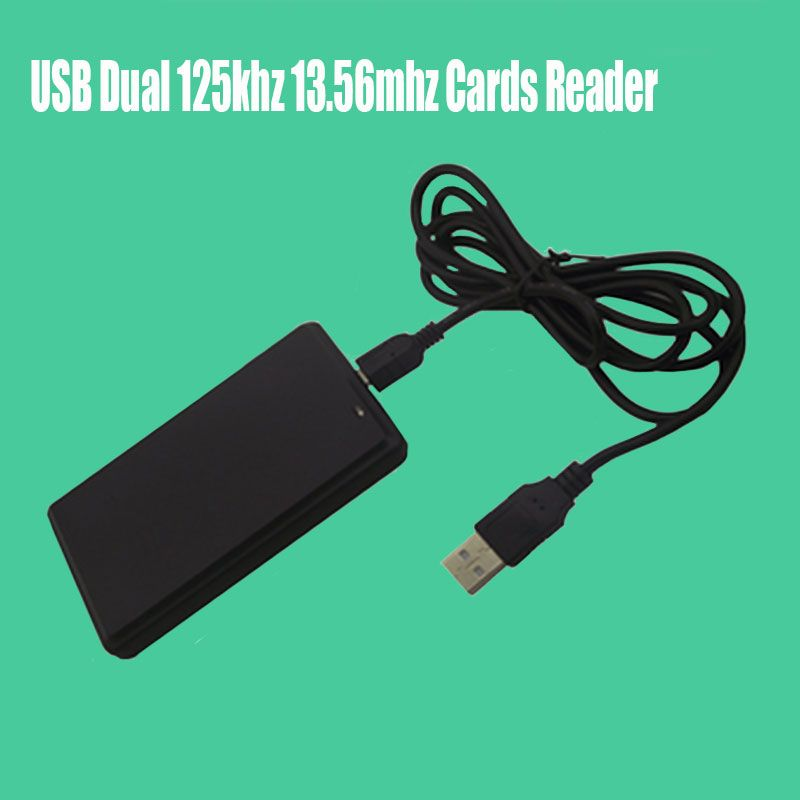 USB Dual Frequency RFID Card Reader Proximity Sensor 125khz 13.56mhz Smart Cards Reader for Access Contro l