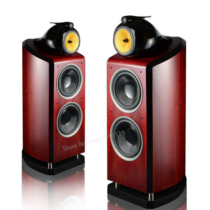 Hifi 2 Akustische Holz Lautsprecher Dual 10 inch Bass Woffer Fahrer 6,5 zoll Mitten 3 Möglichkeiten Audio Crossover Theater Sound System