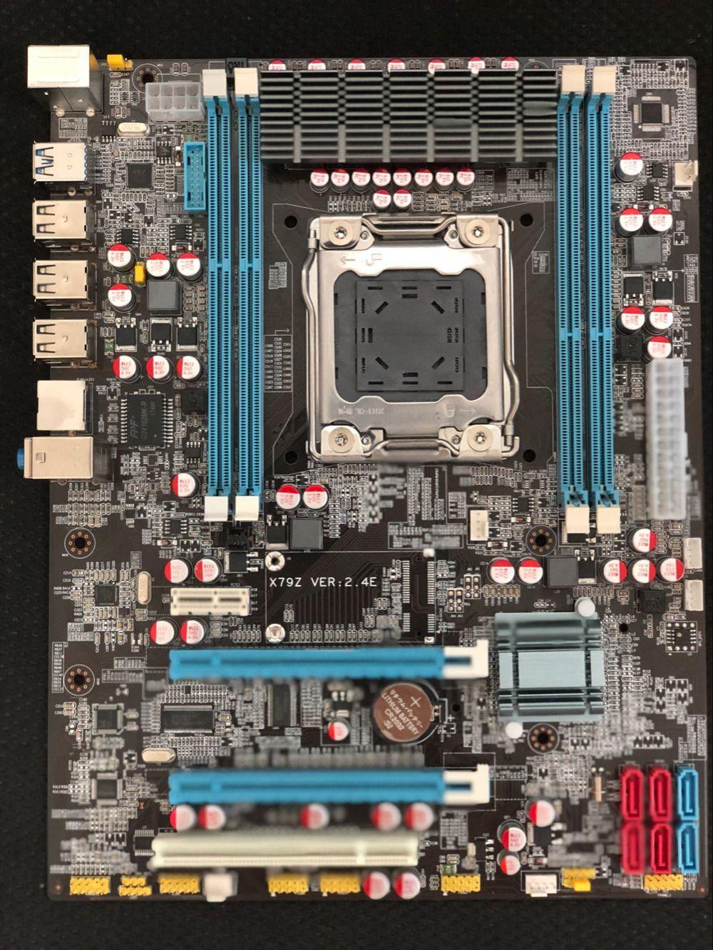 100% OEM New X79Z E5 2.4E Desktop Motherboard X79 LGA 2011 For I7 E5-V1 E5-V2 DDR3/ECC 64G 2*PCI-E SATA3 USB3.0 All-Solid ATX