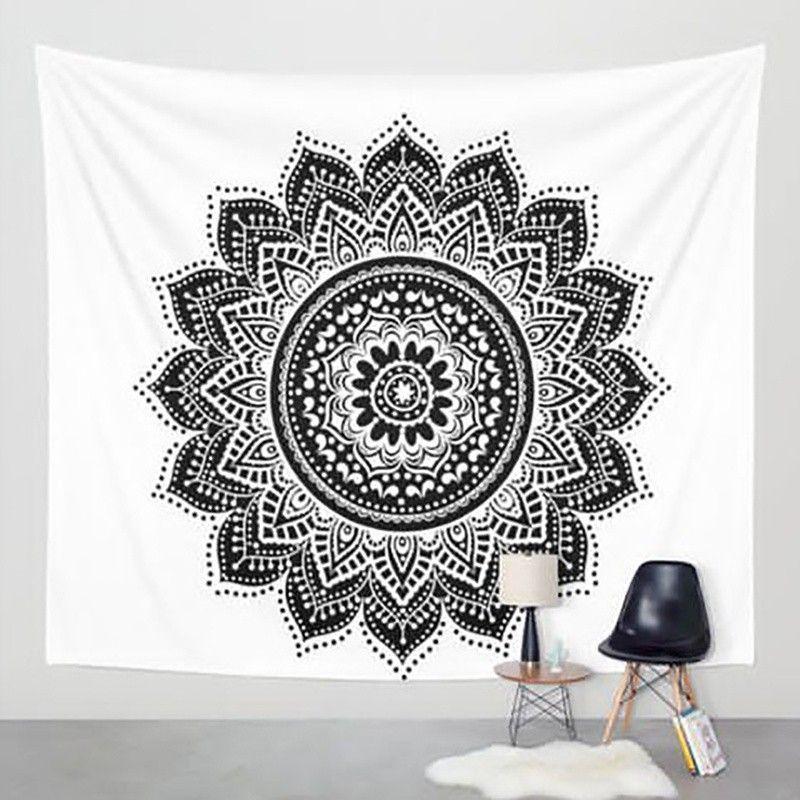 Nouveau Hippie Tapisserie Imprimé Lotus Tapisserie Bohême Mandala Tapisserie serviette plage Tenture Pour La Décoration Murale Tapis De Yoga