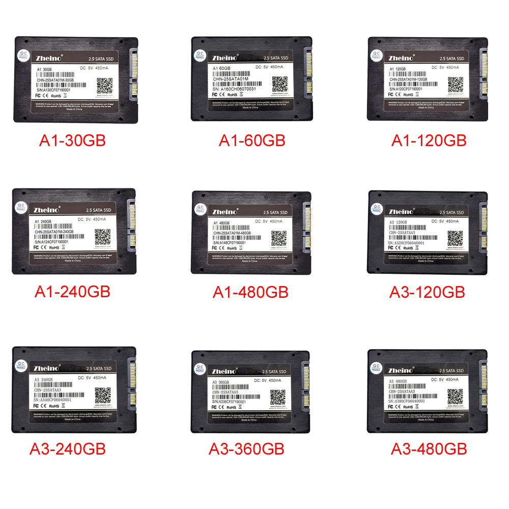 Zheino SSD SATA3 120GB 240GB 360GB 480GB 2.5 inch SSD 6Gbps For PC Laptop Desktop
