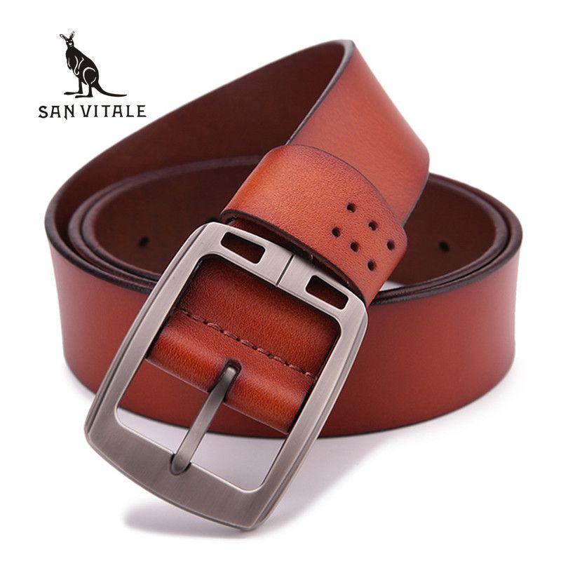 100% peau de vache véritable ceintures en cuir pour hommes marque mâle boucle ardillon jeans cowboy Mens Ceintures De Luxe En Cuir Designer Haute Qualité
