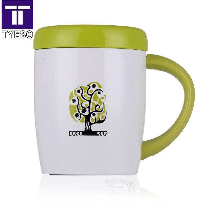300 ml thermos tasse à café en acier inoxydable tasse avec inox thé filtre lisse couvercle comme miroir termos tasse arbre conception vide isolé