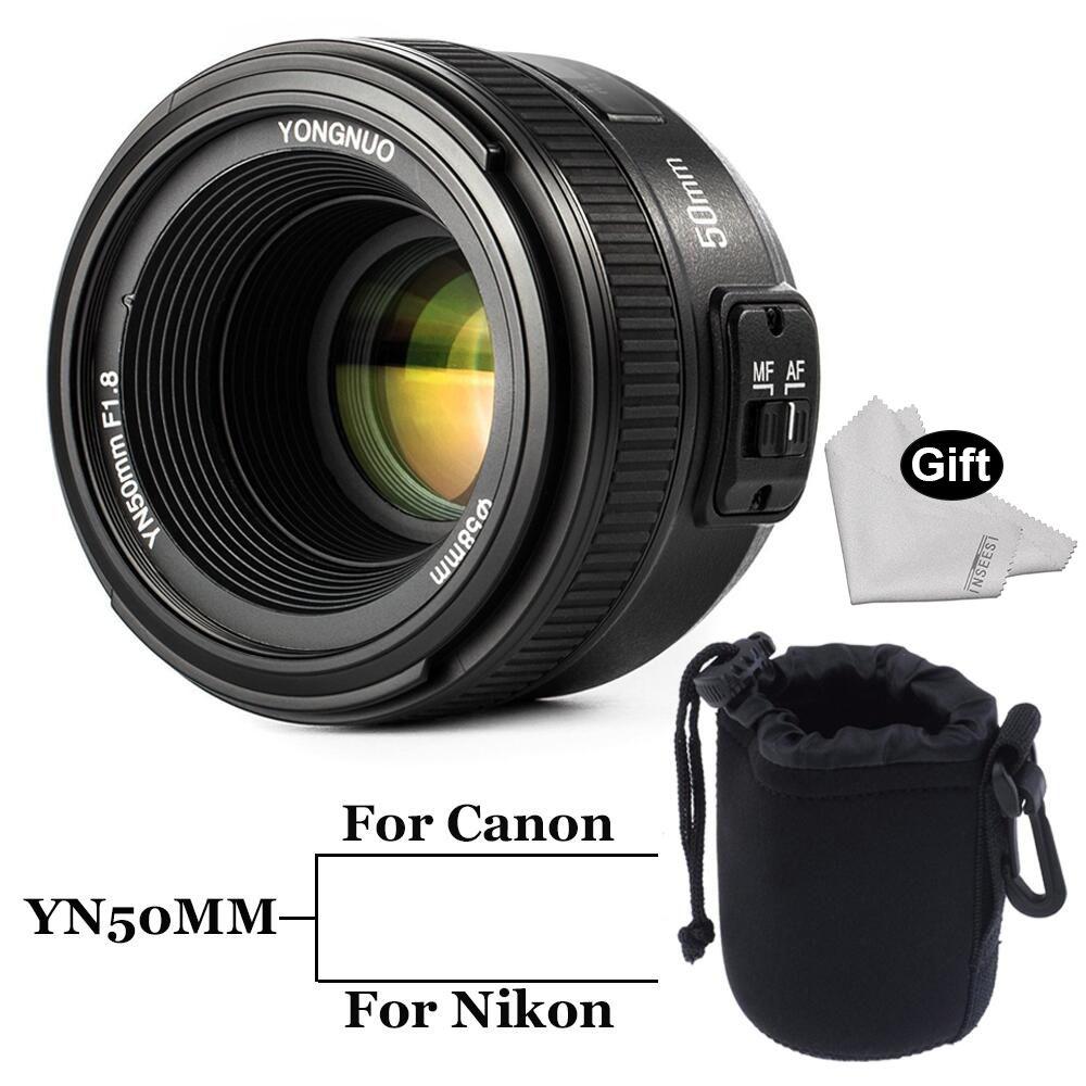 INSEESI Large Aperture YN50MM F/1.8 Standar Auto Focus Lens yn50mm AF/MF Lens for Canon EOS Or Nikon DSLR Camera 50mm f1.8 lens