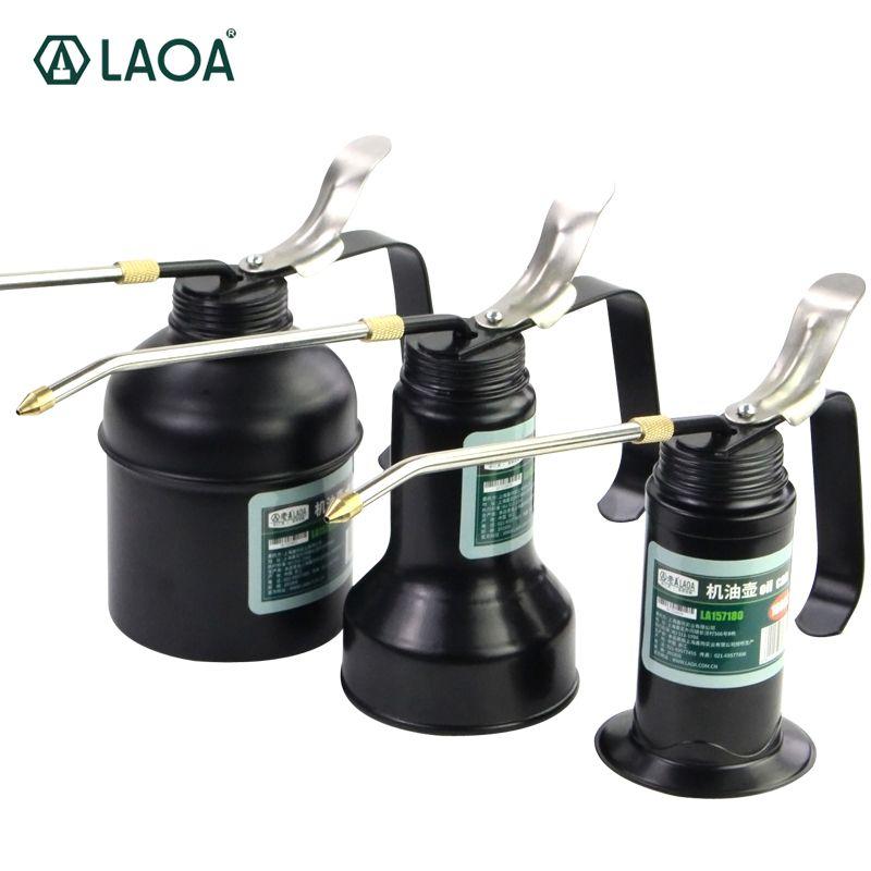 LAOA HVLP huiler 180cc/300cc/500cc Machine huiler pompe haute pression Long bec huile peut Pot outils à main pour lubrifier l'aérographe