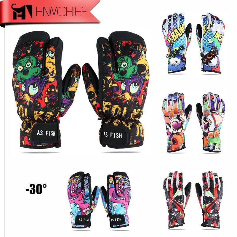 Monster Ski Handschuhe Männer & Frauen Wasserdichte Winter Radfahren Skifahren Snowboard Handschuhe Cartoon Bunte handschuhe handschuhe