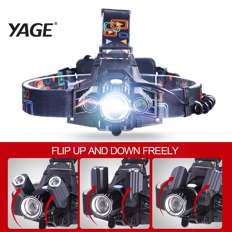 YAGE lampe frontale flashlight Head Lamp Lights <font><b>linterna</b></font> frontal t6 LED headlamp headlights flashlights forehead 18650 hoofdlamp