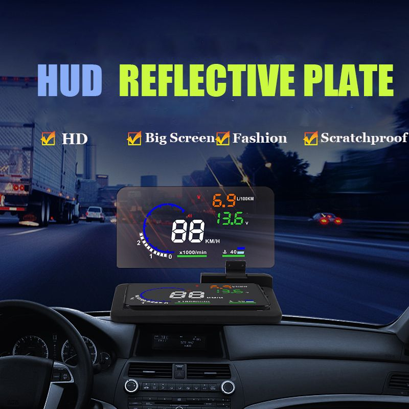 Autool H6 HUD Smartphone Projector Head Up Display Holder HUD Reflective Plate Car GPS Navigator