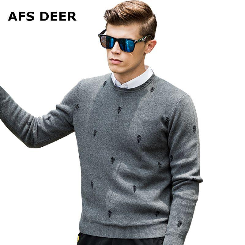 Новинка 2017 года принт Повседневное Для мужчин S свитер брендовый свитер Для мужчин зимние Для мужчин с О-образным вырезом хлопок Джемперы пу...