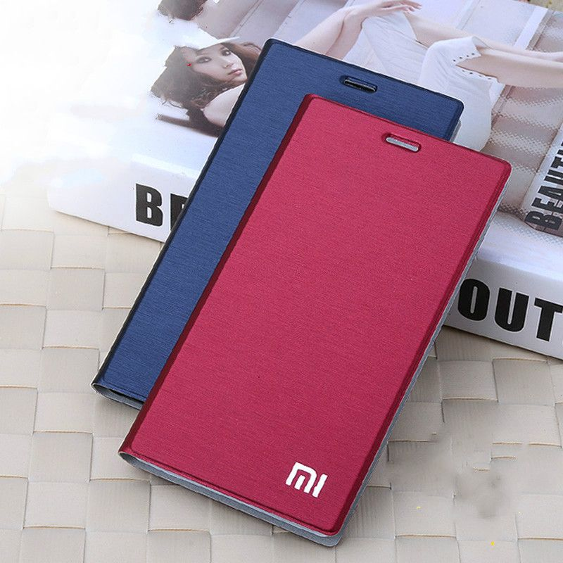 New Arrival For Xiaomi mi4 m4 Case, Luxury Slim Style Flip Leather Case For Xiaomi Mi4 M4 Cover Bag stand card holder function