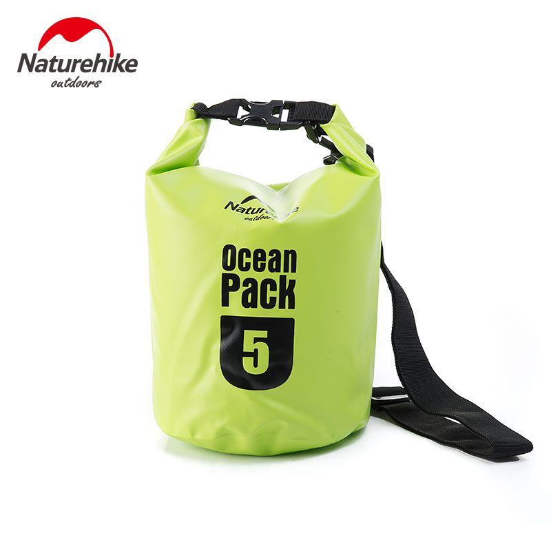 5L 10L 20L Barrel-Shaped 500D PVC Tarp River Trekking Drifting Seal Rafting Bag Ocean Pack Waterproof Bag Dry Bag For Outdoor