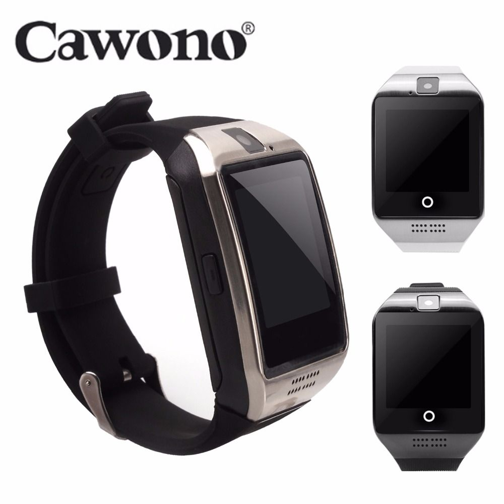 Cawono Bluetooth Q18 Smart Watch <font><b>Fitness</b></font> Tracker Smartwatch Relogio Relojes Watch Camera for IOS Apple Huawei Android Phones