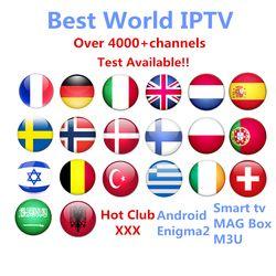 IPTV Abonnement Android TV Box + Europe Suède Arabe Français Italie Allemagne ROYAUME-UNI Hotclub Adulte xxx M3U Enigma2 Smart TV Mag tv box