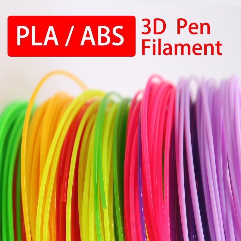 Pla 1.75mm abs filament 20 couleur choisir le meilleur cadeau pour les enfants parfait 3d stylo 3d stylos sécurité environnementale en plastique de haute qualité ligne
