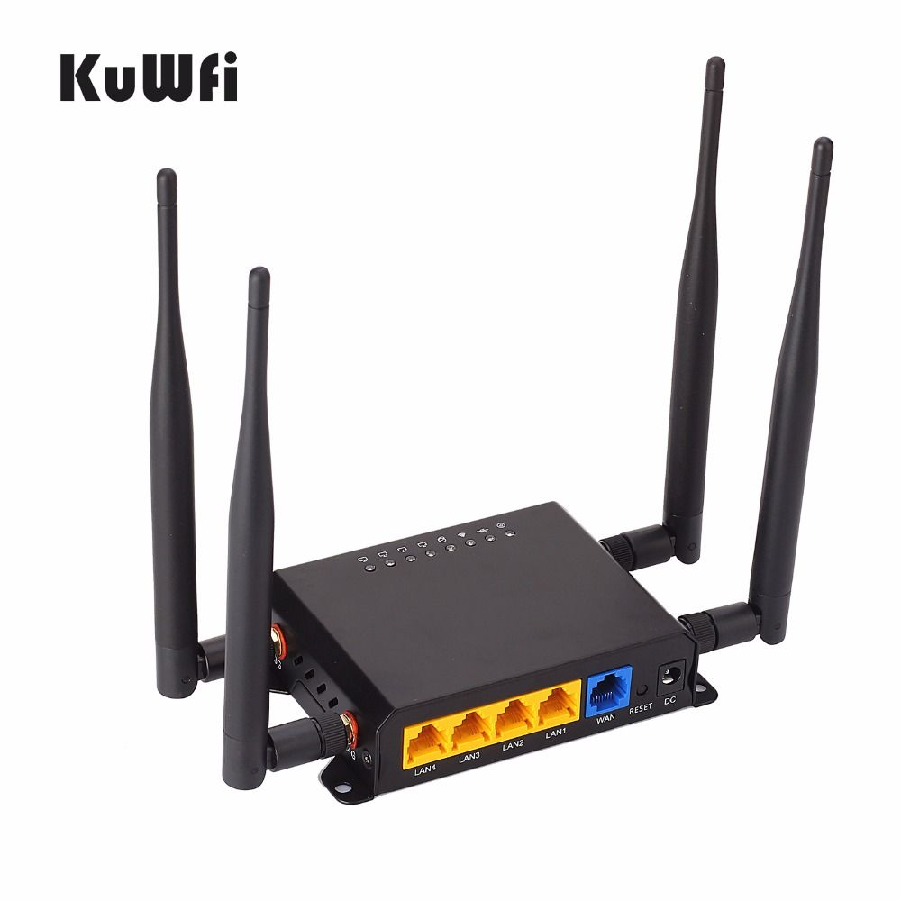 300Mbps High Power Long Range 128M OpenWrt 3G/4G SIM Car Wireless Router Wifi Repeater 4 removable Antenna Strong Signal