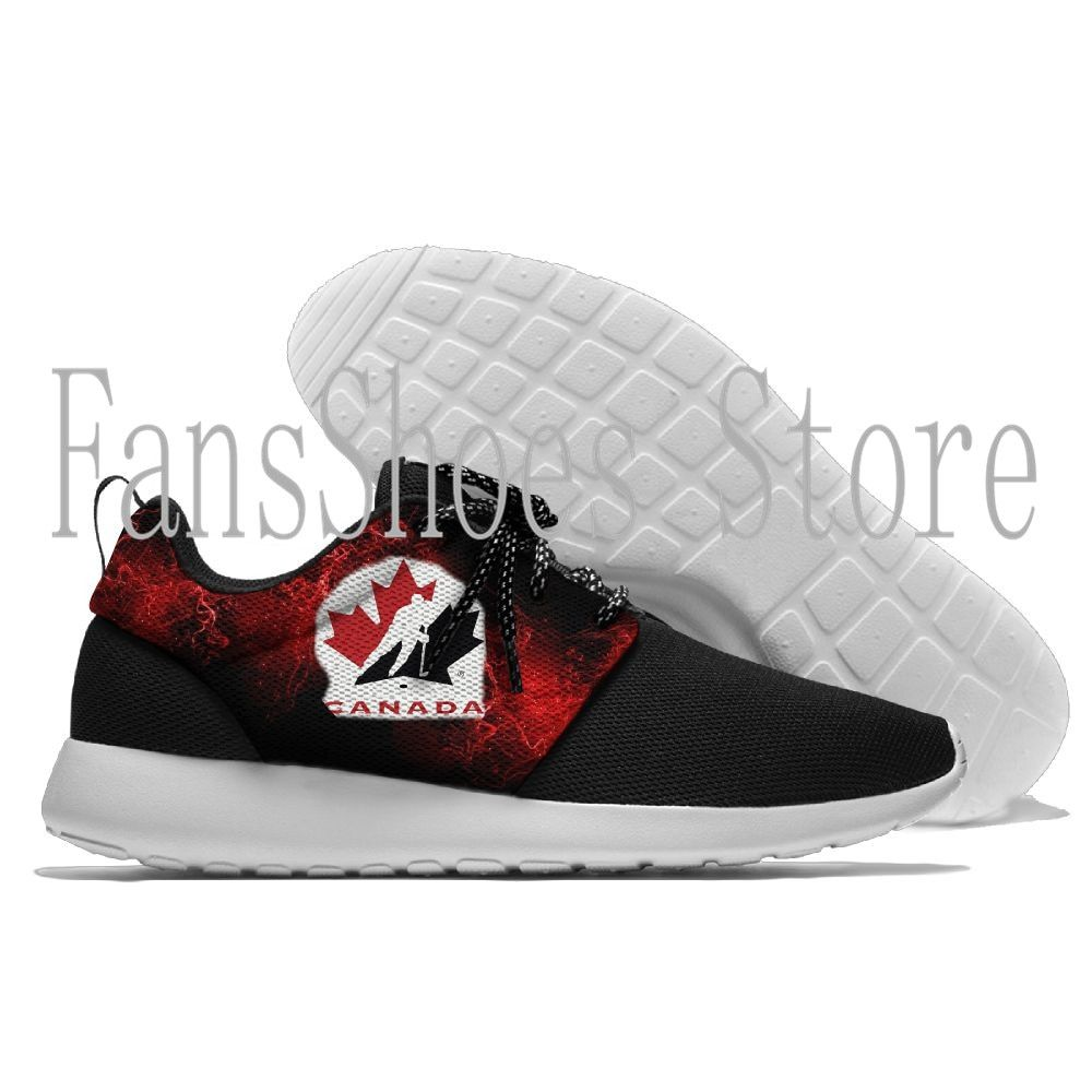 New Running Shoes Canada Hockey League Logo Novelty Design Men Sport Light Weight Breathable Walking Shoes