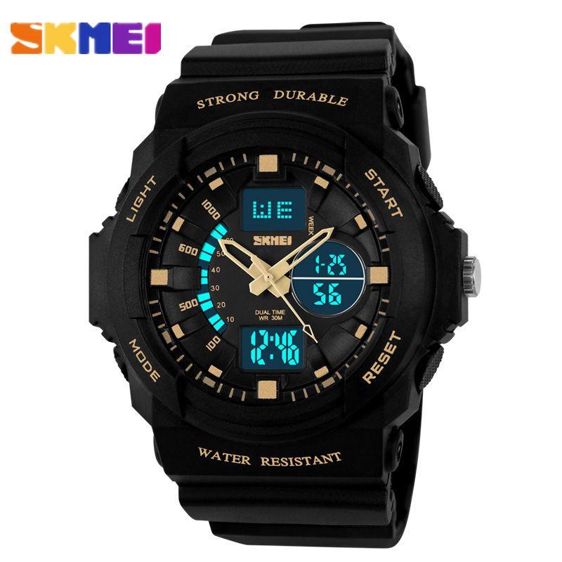 2016 niños relojes de cuarzo de los deportes los niños reloj digital relojes skmei marca de moda al aire libre relojes niños relojes de pulsera de cuarzo