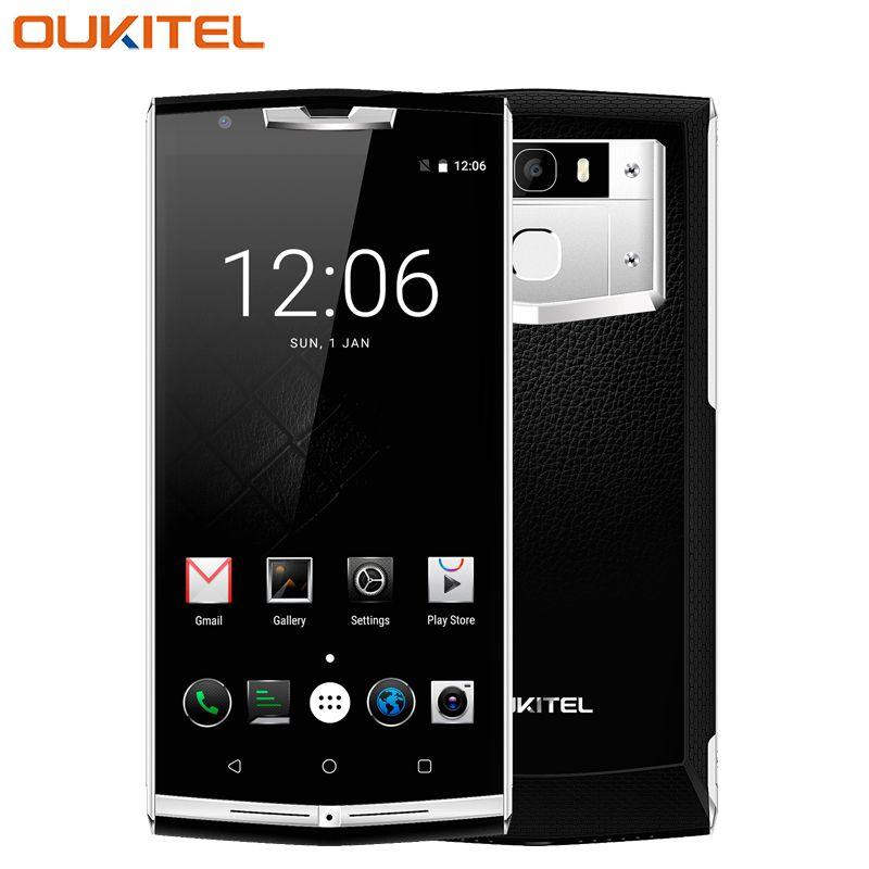Original Oukitel K10000 Pro Cell Phone 5.5inch 3GB RAM 32GB ROM Octa Core MTK6750T Android 7.0 10000mAh 13.0MP Camera Smartphone