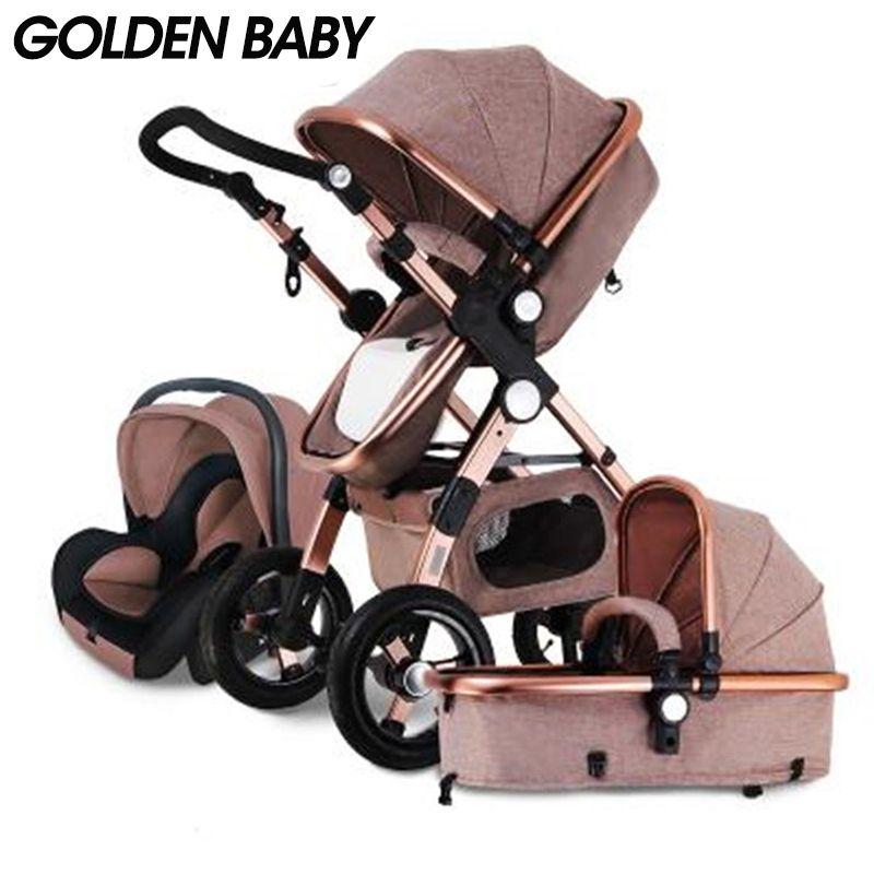 GOLDENE BABY/GoldBaby baby kinderwagen 2 in 1 3 in 1 shock gefaltet klapp neugeborenen baby trolley Russland freies verschiffen