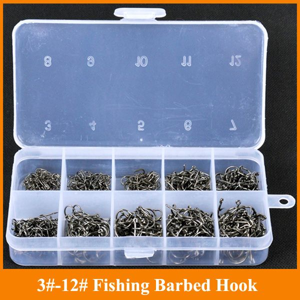 Hot Sale High quality Carbon Stainless 500 pieces/box Mix Sizes Fishing Hooks Japaness Brand Fishing Geer Accessories Tackle