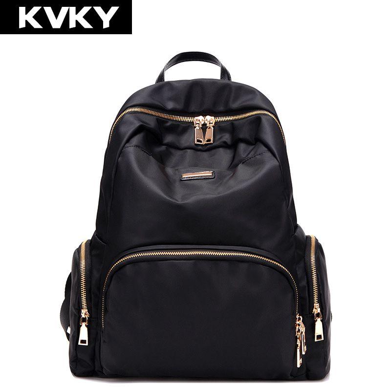 KVKY 2017 femmes sacs à dos imperméable en Nylon étudiant sacs d'école fille sacs à dos femme décontracté sac de voyage dames mochila feminina