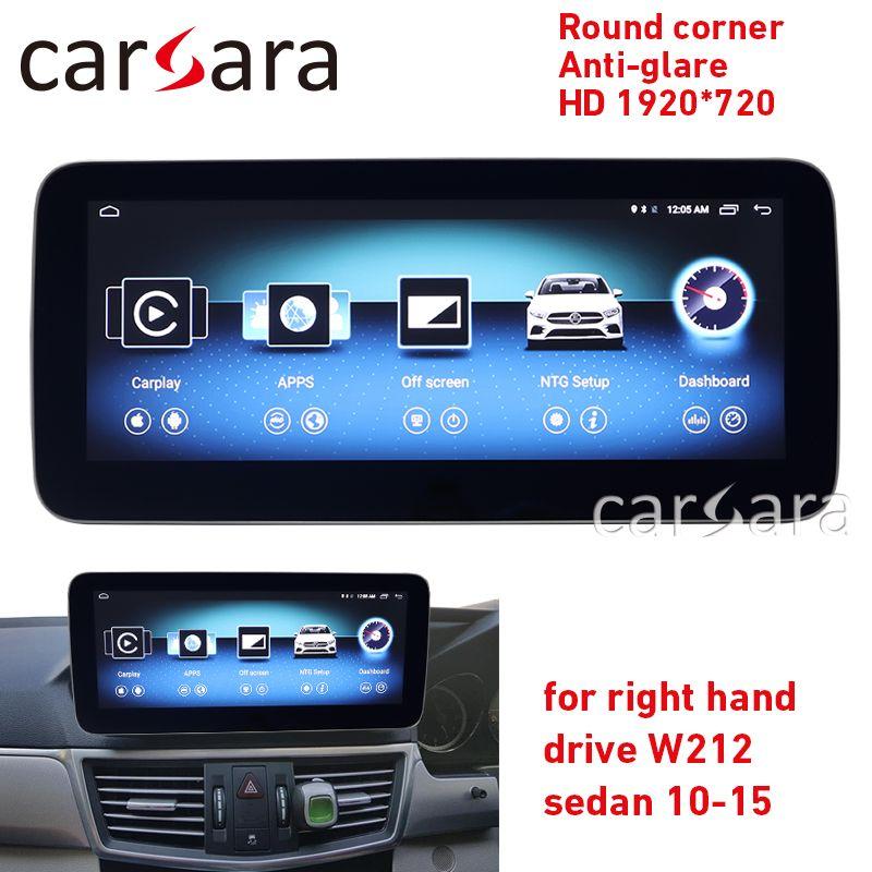 W212 android radio runde ecke HD 1920 für RHD E Klasse limousine 10,25