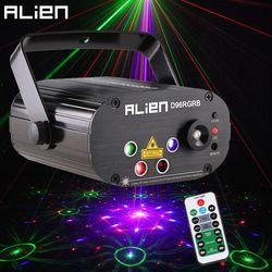 الغريبة جديد 96 أنماط RGB آلة حفر بالليزر صغيرة كشاف ضوء DJ ديسكو حزب الموسيقى الليزر المرحلة الإضاءة تأثير مع LED الأزرق أضواء عيد الميلاد