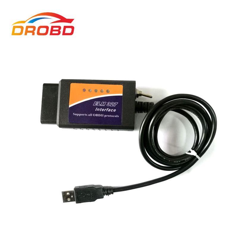 Новый ELM327 USB V1.5 с коммутатором изменение для ford elmconfig forscan CH340 + 25K80 чип HS-CAN/MS-CAN код читателя
